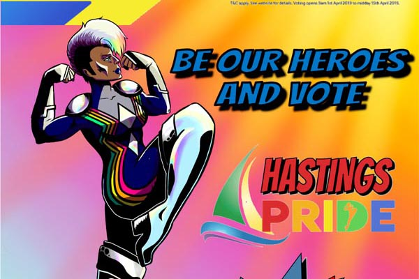 Be a Hero for Hastings Pride – they need your vote!