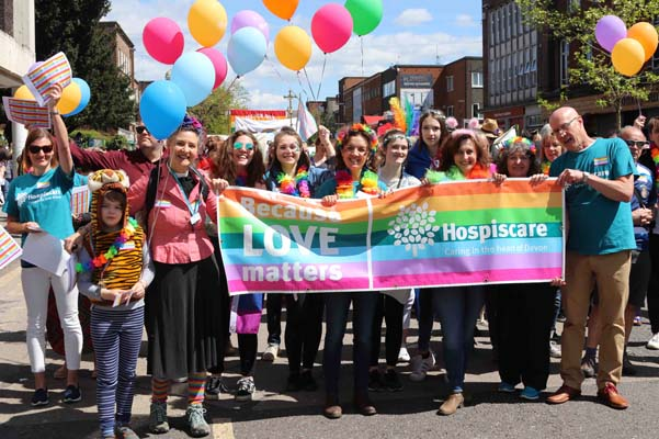 Sunshine and rainbows herald the best Exeter Pride to-date