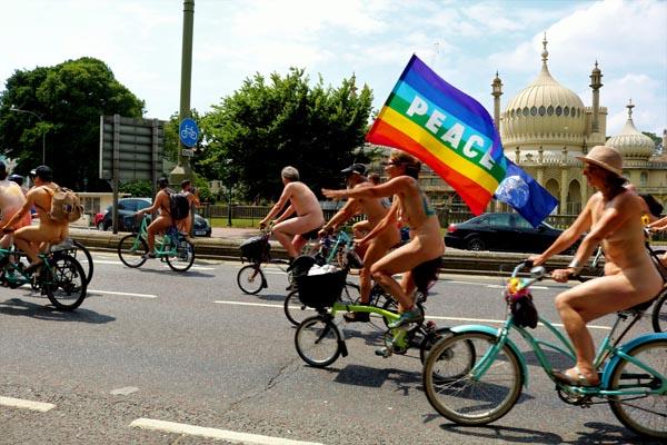 Brighton Naked Bike Ride partners Extinction Rebellion to highlight climate crisis