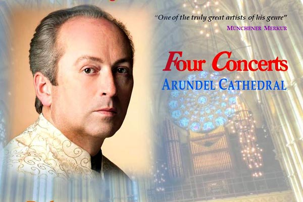 D'Arcy Trinkwonto play four concerts at Arundel Cathedral