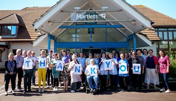 Martlets thanks its 500 volunteers as part of Volunteers Week 2019