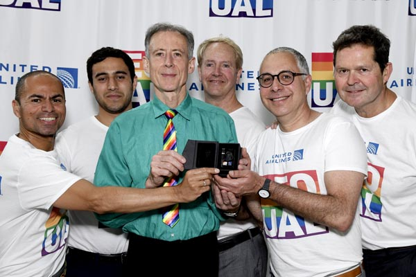 Peter Tatchell recognised by United Airlines