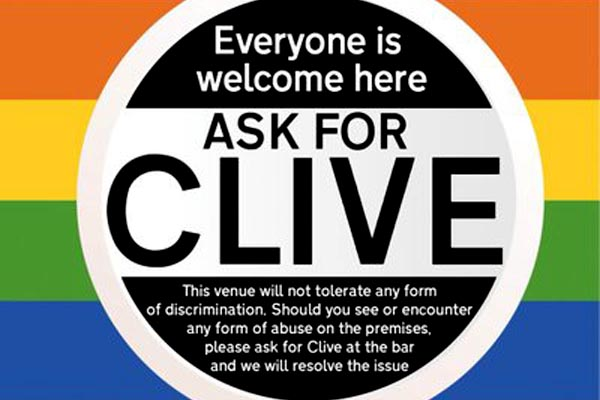 Help stop homophobia and transphobia – #Ask For Clive!