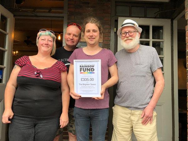 Brighton Tavern supports The Brighton Rainbow Fund