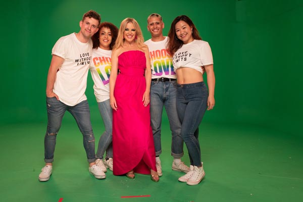 Kylie joins young Brighton dancers in video for Brighton Pride