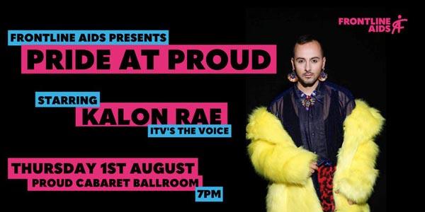 Frontline AIDS fundraiser at Proud Cabaret Ballroom on August 1