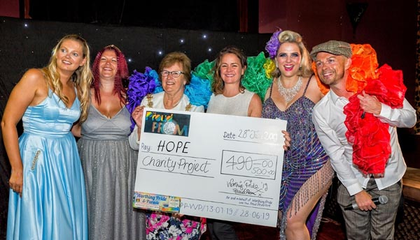 Worthing Pride raise £500 for HOPE Charity Project