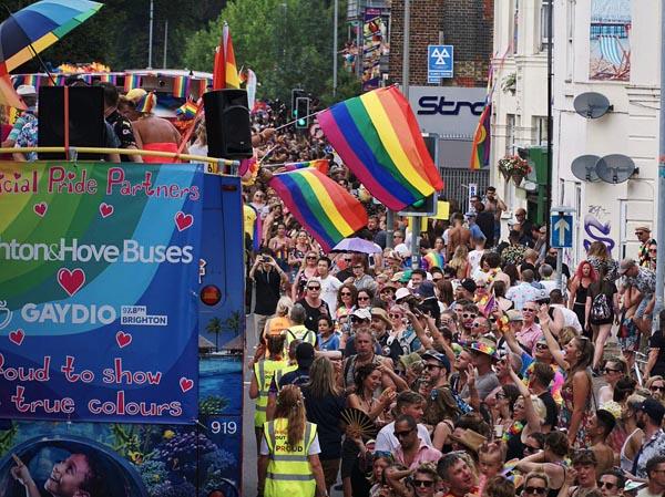 Brighton and Hove Buses provide shuttles to Pride at Preston Park