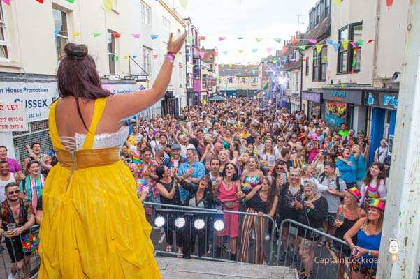 PICTURE DIARIES: Captain Cockroach at the Pride Village Party in George Street