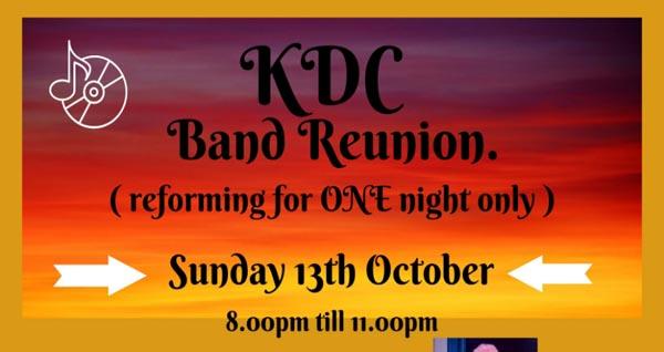 PREVIEW: KDC band reunion @The Brunswick Pub in Hove