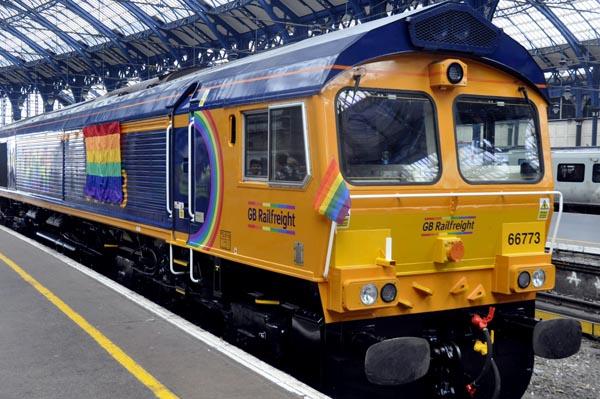 Times columnist unveils new Brighton Pride Rainbow Locomotive