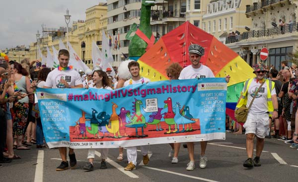 PICTURE DIARIES: Community groups and charities march on Brighton Pride Parade