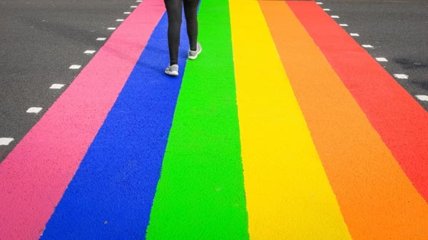 Local travel agent campaigns for permanent 'Rainbow Crossing' on St James Street