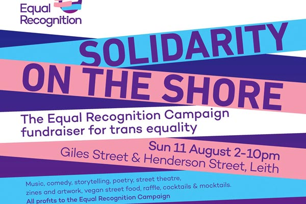 Performers fundraise for trans equality in Leith this Sunday