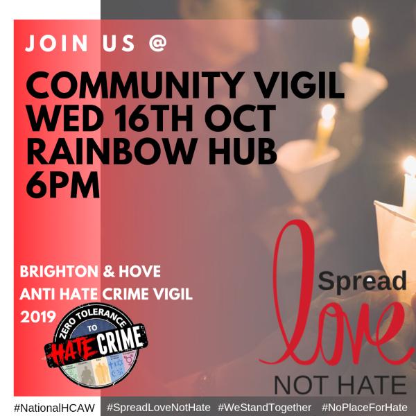 BRIGHTON & HOVE COMMUNITY SOLIDARITY VIGIL AGAINST HATE CRIME