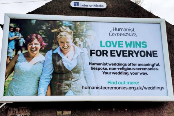 Humanists launch Northern Ireland's first billboards advertising legal same-sex marriages