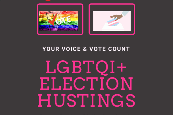 Gscene's LGBTQ Hustings event this Wednesday evening. All invited.
