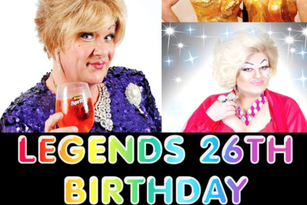 Legends Brighton to celebrate 26th Birthday with Charlie Hides & local icons