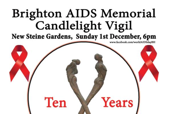 Brighton AIDS Memorial Candlelight Vigil  Dec 1st 6pm