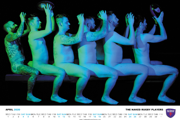 The Naked Rugby Players' 2020 Calendar
