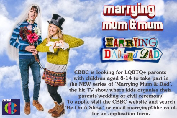 CBBC show on the hunt for LGBTQ+ parents ready to tie the knot