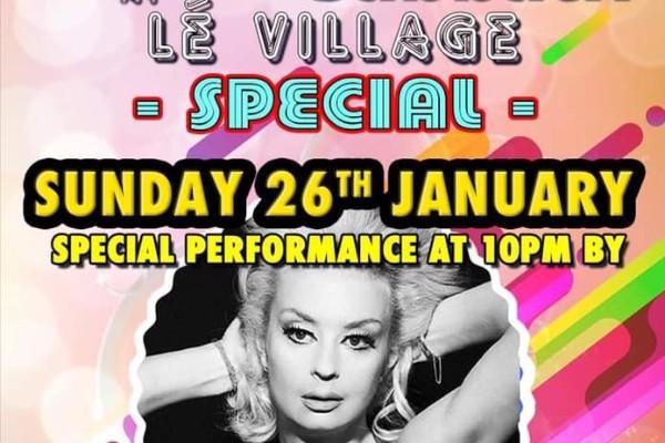 She's back! Lauren Harries returns to Le Village on Sunday, January 26
