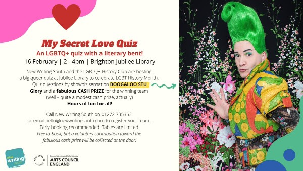 LGBTQ+ History Month event: My Secret Love Quiz at Jubilee Library on Sun, Feb 16
