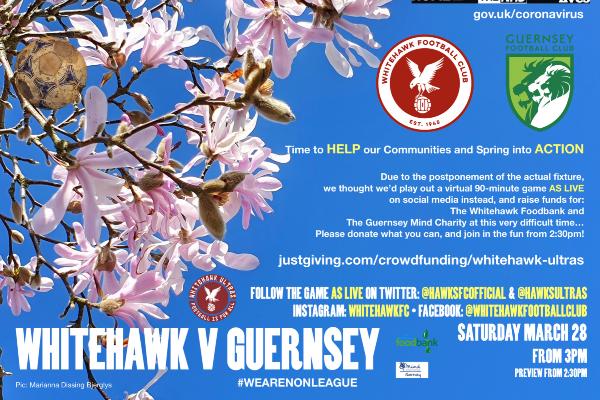 WHITEHAWK & GUERNSEY FOOTBALL CLUBS CREATE 'THE BIG VIRTUAL MATCH' ON TWITTER