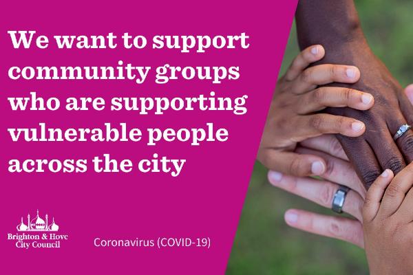 Coronavirus– emergency fundfor city's community groups