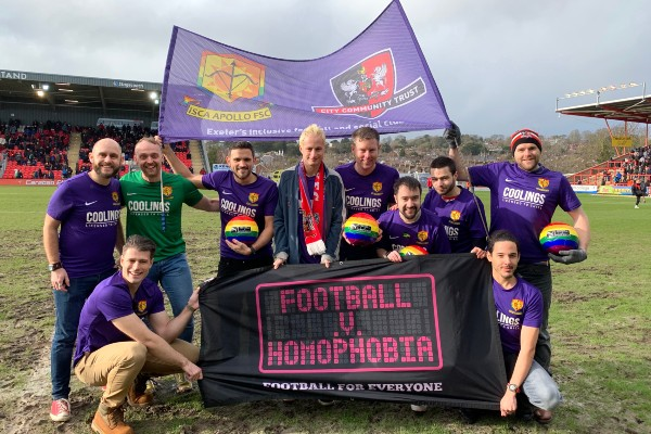 Rainbows and applause when Exeter City took stand against homophobia for 11th year