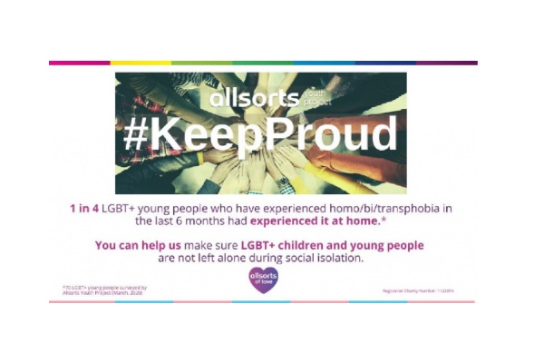 Allsorts Youth Project launches #KeepProud crowdfunding & social media campaign