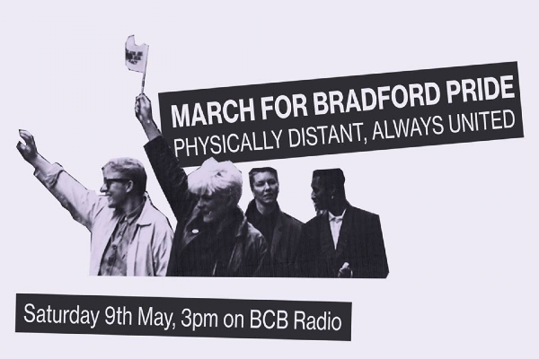 Join a fiercly physically distant march for Bradford Pride 2020 this afternoon at 3pm