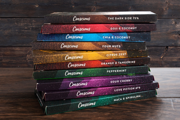 Conscious Chocolate launch Rainbow Collection