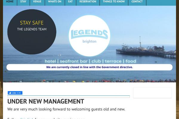 Legends Bar & Club 'Under New Management'