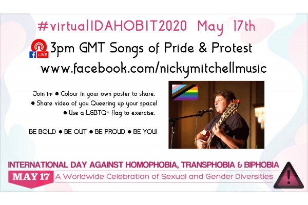 International Day Against Homophobia, Biphobia and Transphobia virtual events in the city