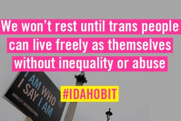 Human rights organisations speak out for trans equality