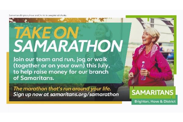 Run, jog or walk for city Samaritans