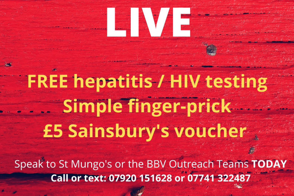 Brighton's rough sleepers offered HIV and hepatitis screening