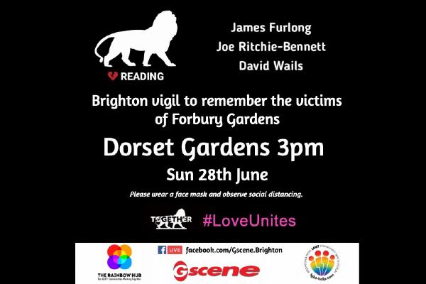 Brighton vigil to remember victims of Reading Attack, tomorrow @ 3pm.
