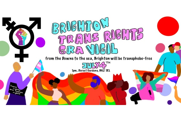 Brighton Trans Rights Vigil @ Dorset Gardens on Saturday, July 4