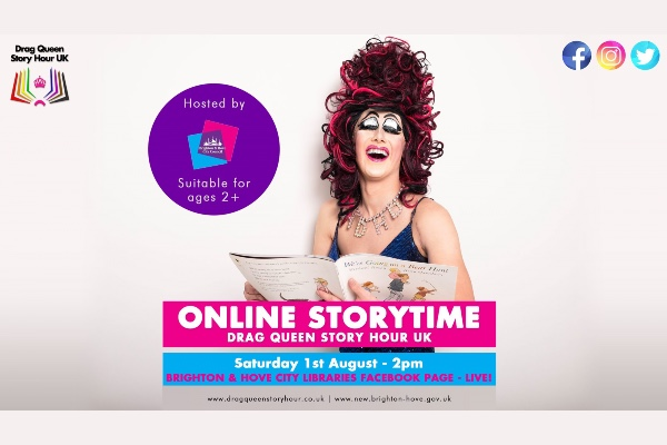 Drag Queen Story Hour UK with Aida H Dee on Saturday, August 1