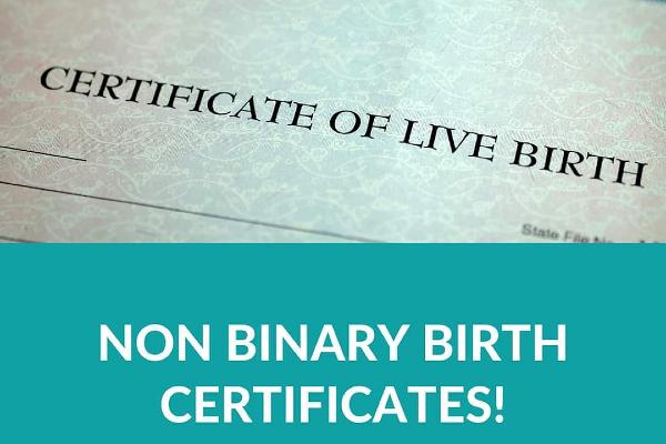 Non-binary option on birth certificates in Maine