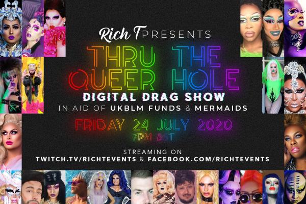 International drag showcase for Black Lives Matter UK and Mermaids