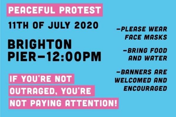 Brighton Black Lives Matter Protest on Saturday, July 11