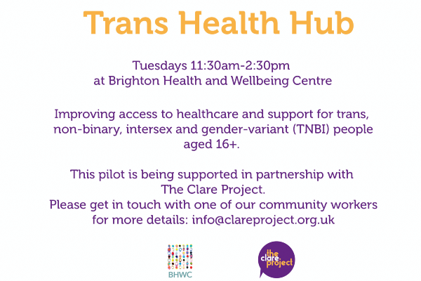 Clare Project support pilot of Trans Health Hub