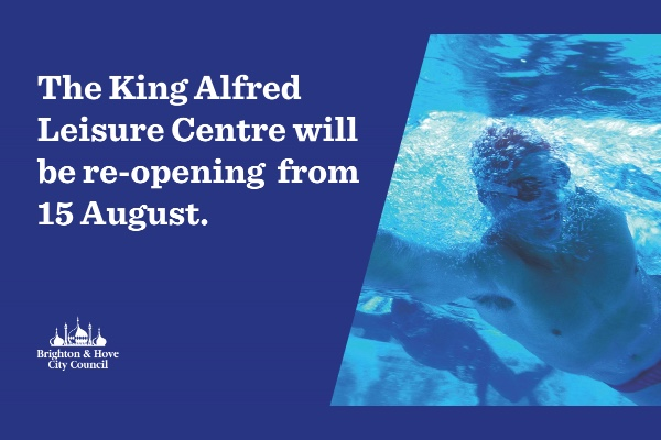 King Alfred Leisure Centre to re-open on Saturday, August 15