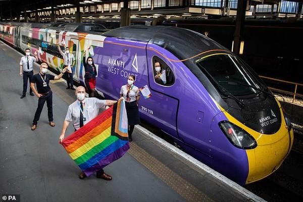 Avanti's Pride train named 'Progress' by bisexual engineer