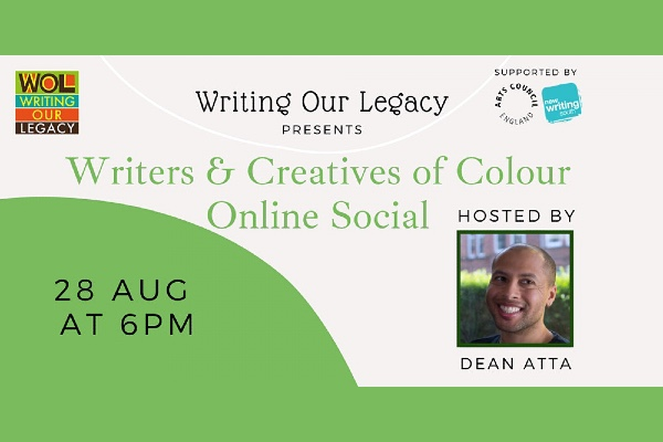 Writers & Creatives of Colour online social with Dean Atta