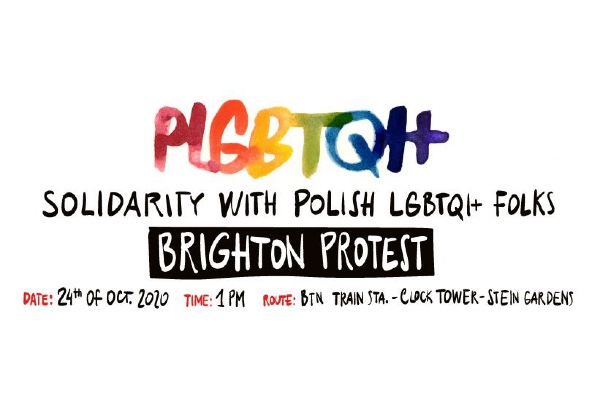 March in Solidarity with Polish LGBTQ+ people this Saturday, October 24