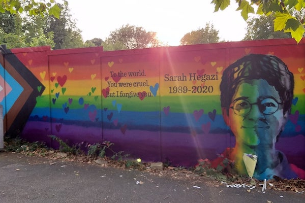 Sarah Hegazi mural revealed in Brighton